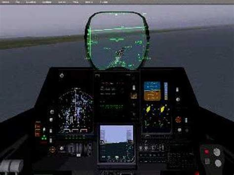 f-22 carrier landing cockpit view - YouTube