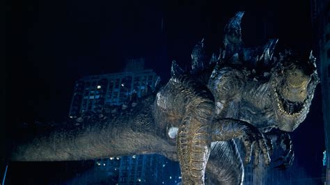 Godzilla With Background Of Building During Nighttime HD