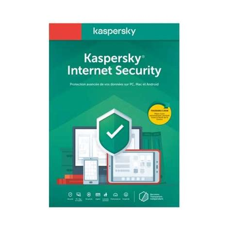 Kaspersky Internet Security 2020 3 postes pour 1 an