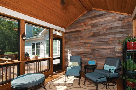 Conversational Living Space in Screened Porch   Before & After